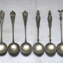 7 different types of Russian Coins spoons FREE SHIPPING