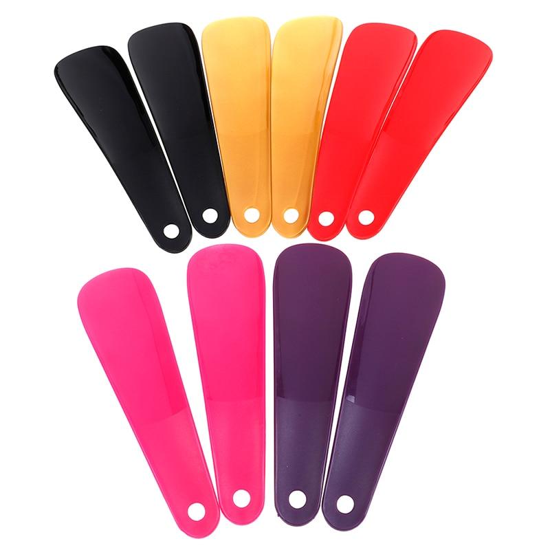 2Pcs Colorful Plastic Shoehorn Shoe Horns Spoon 16cm Professional Flexible Shoe Lifter Shoes Accessories