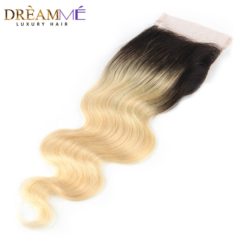 Dreamme Hair 1B / 613 Body Wave 4x4 Fermeture À Lacets Ombre - Cheveux humains (noir) - Photo 3