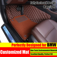 8pcs Customized Fit Car Floor Mat Carpet Pad Liner For BMW X1 X3 X5 X6 1