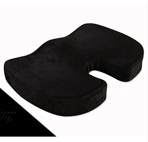 Asiento de espuma de memoria cómodo ortopédico coccix asientos de estadio deportivo de espuma de memoria almohada para el cuello máscara de viaje