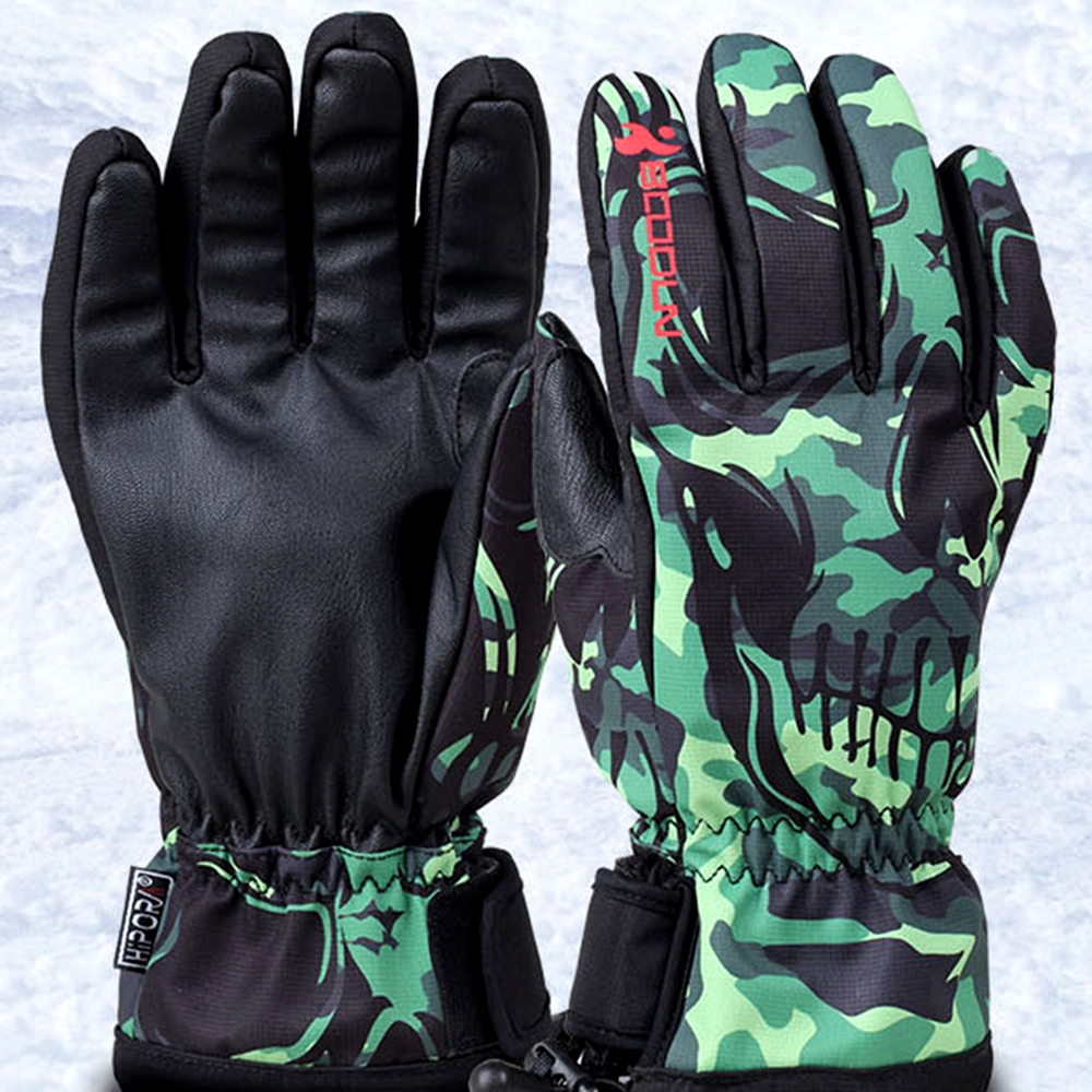 BOODUN Luvas de Esqui de Inverno À Prova D' Água À Prova de Vento Placa de Homens Solteiros e Mulheres Profissionais Homens e Mulheres Luvas Quentes - 4