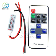 12V RF Wireless Remote Control Switch Controller LED Dimmer Mini In line LED Light Controller