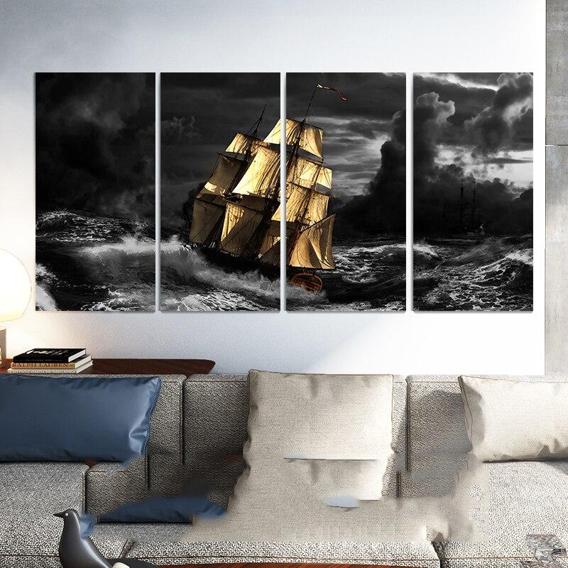 5D DIY Diamond Painting sailboat Full diamond Embroidery mosaic Cross Stitch Rhinestones Living room decoration Y1556
