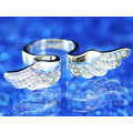 Peacock Star Silver, Gold Plated, Rose Gold Plated Angel Wing Quality Ring use Austrian Crystal - CSR066