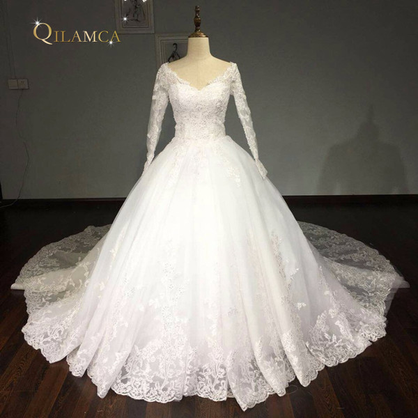 Vestido De Noiva 2017 New Elegant Lace Applique Tulle: New Arrival Vestido De Noiva 2017 Wedding Dresses Ball