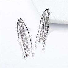 2019 Fashion Woman Jewelry European Exaggerated Geometry Acrylic Long Claw Chain Tassel Earrings Personality Popular Earings