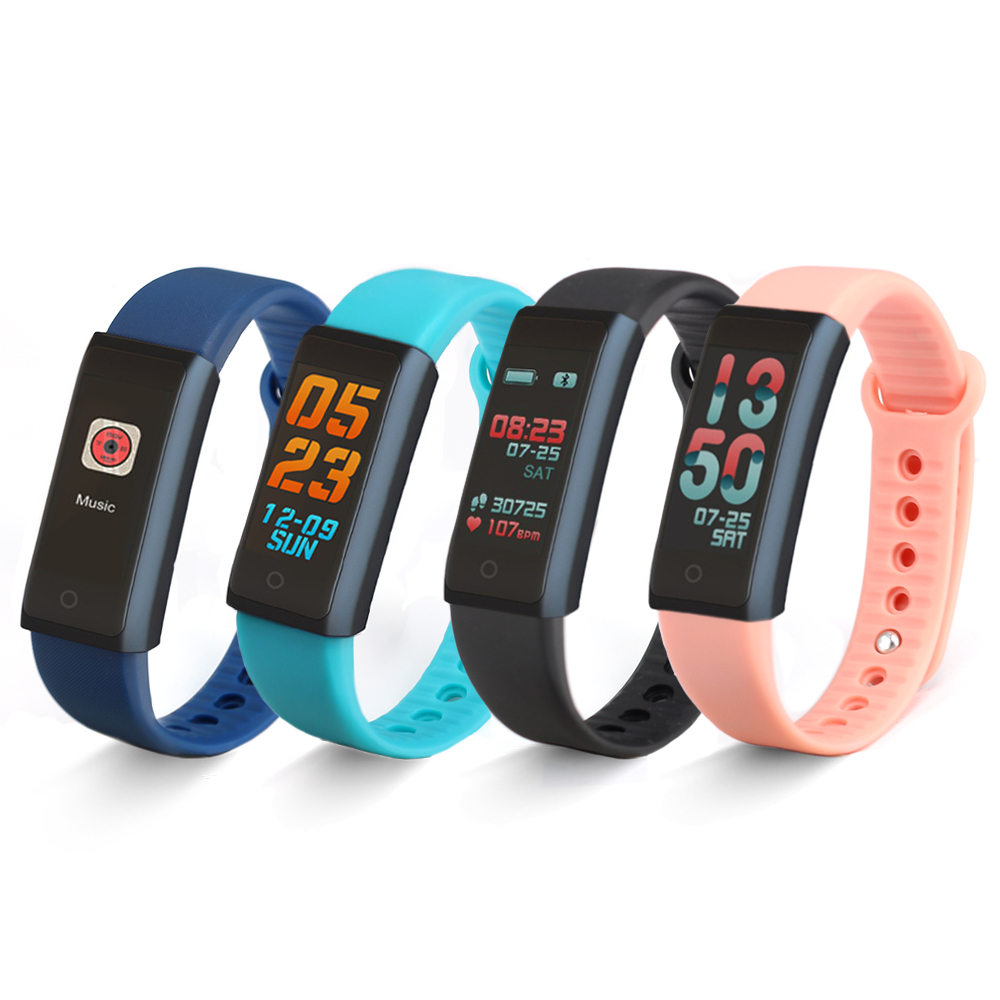 F600 Smart Fitness Bracelet Message Reminder Watch Wristband Waterproof Sleep Heart Rate Monitor Charging 2 hours Using 1 Week