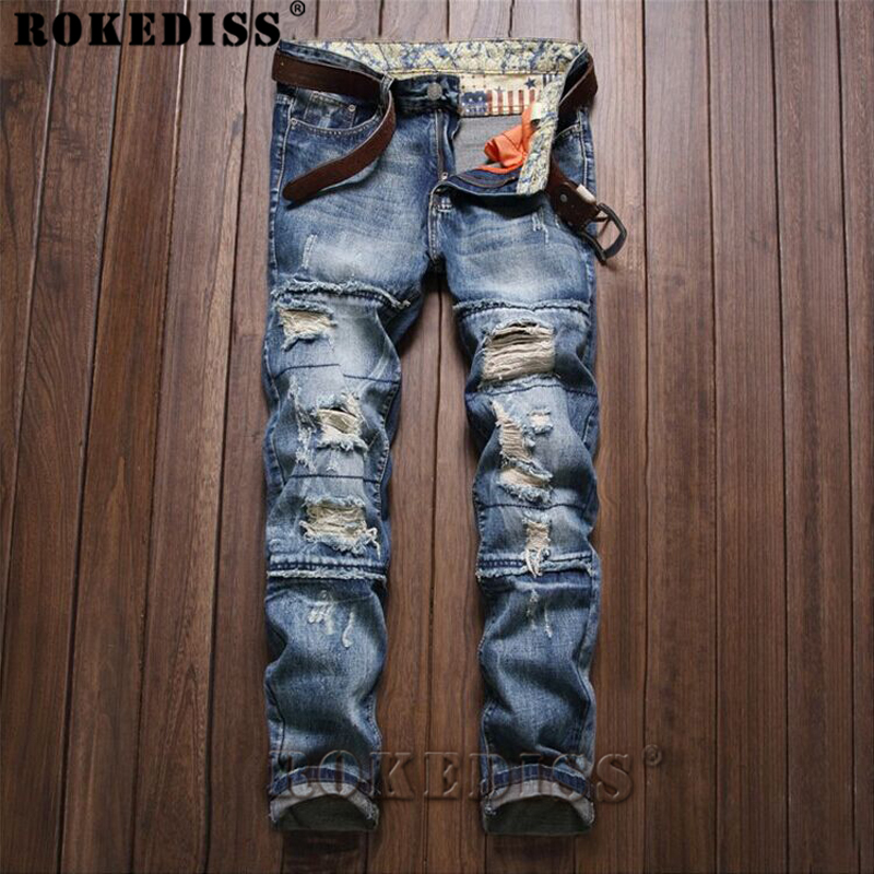Free shipping 2017 male straight leg denim trousers men fashion brand jeans mens business pants black jeans men C136