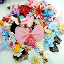 50pcs Ribbon bow flowers appliquest craft lots mix hair Accessories-in DIY Craft Supplies from Home & Garden on Aliexpress.com   Alibaba Group