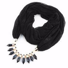 Lureme женский шарф ожерелье всех цветов шармы со стрелками