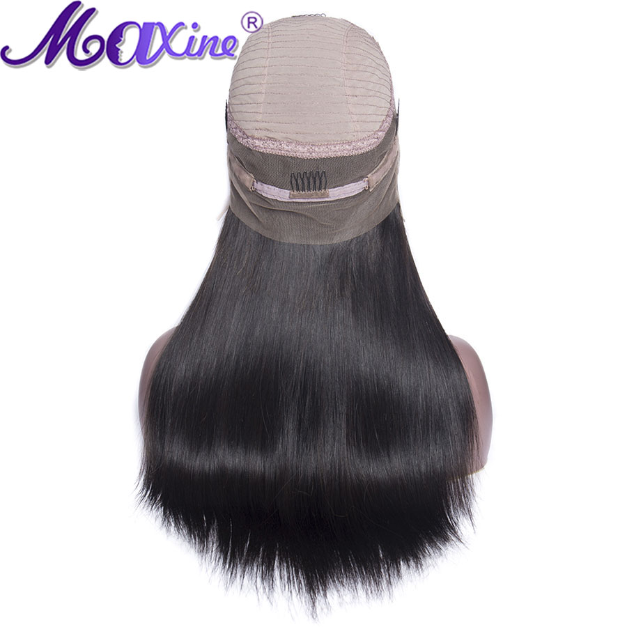 360 Lace Frontal Wig Pre Plucked With Baby Hair Braziian Straight Human Hair Remy 150 Density