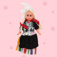 Kid Toys Baby Ethnic Dolls Finland Woman Ethnic Clothes 4inch Mini Doll For Girls Boys Child