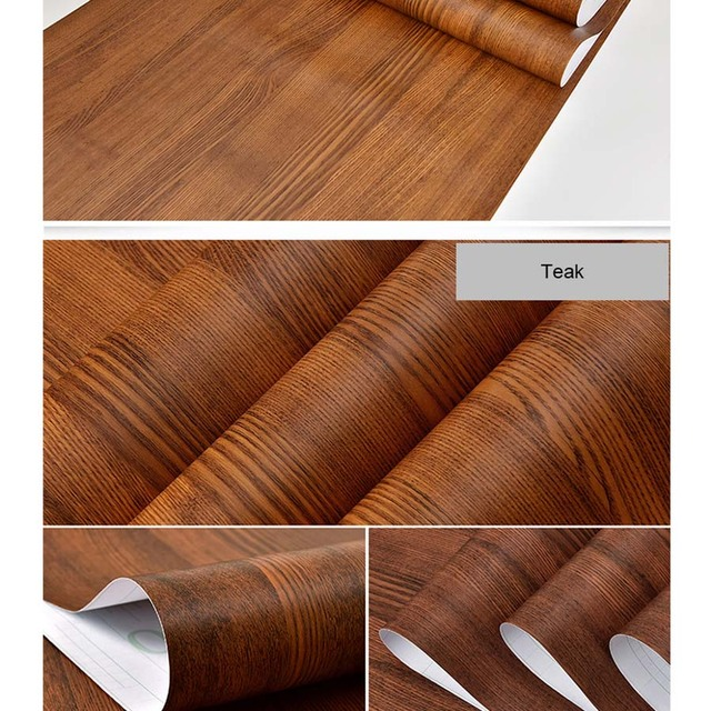 Us 1397 40 Offpvc Waterproof Self Adhesive Wallpaper Roll Furniture Cabinets Vinyl Decorative Film Wood Grain Stickers For Diy Home Decor In