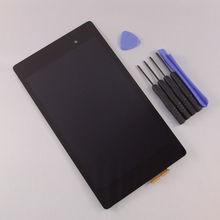 2013 envío libre de calidad superior para Asus Google Nexus 7 FHD 2nd Gen pantalla LCD táctil digitalizador asamblea + herramientas gratuitas