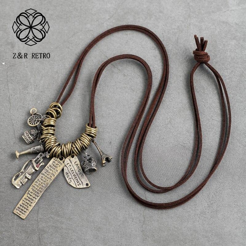 c002f14ae729 UKMOC Punk de moda las mujeres pares gargantilla collar de aleación tiempo colgantes  collares de Metal