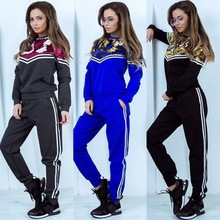 ZOGAA Hot Sale 2019 Women Tracksuit Sweatsuit Elastic Waist Pullover Joggers Casual Cotton Fashion Two Piece Sets Top and Pants