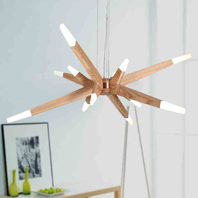 Creative Postmodern Wooden Pendant Light