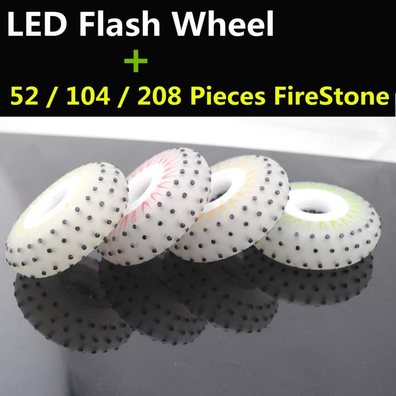Prix pour LED Flash Brillant Patins À Roues Alignées Roue, 52 104 208 Pièces Flint FireStone Patin À Roulettes Roues pour le Patinage