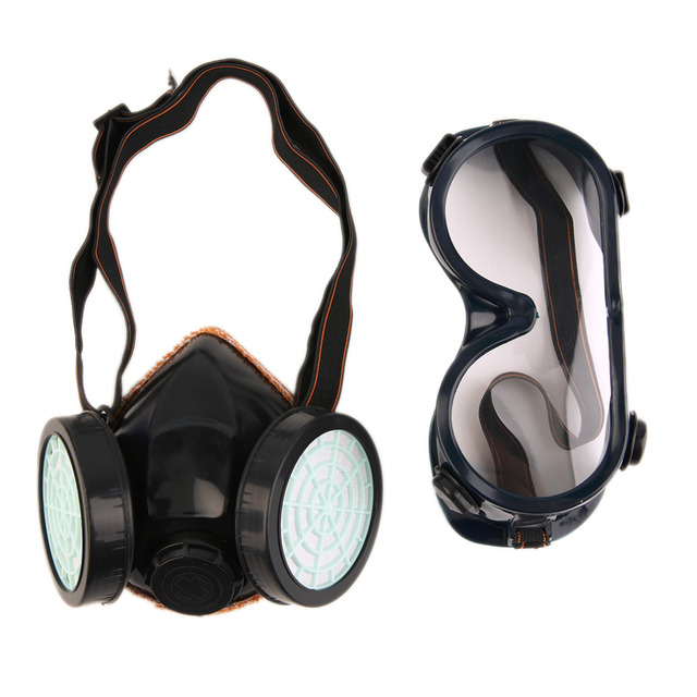 Protection Filter Double Gas Mask Chemical Gas Respirator Face Mask Goggles Costumes Accessories  sc 1 st  AliExpress.com & Protection Filter Double Gas Mask Chemical Gas Respirator Face Mask ...