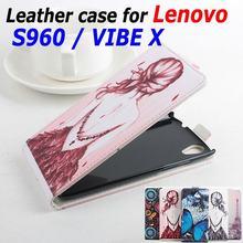 100% Высокое качество кожаный чехол для Lenovo S960 S 960 откидная крышка корпуса для Lenovo VIBE X кожаный чехол мобильный телефон случаях