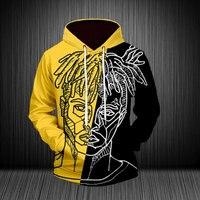 Dropshipping USA Size XXXLentacion 3D Print Hoodies Unisex Sweatshirts Streetwear xxxtentacion Casual Tracksuit Pullover