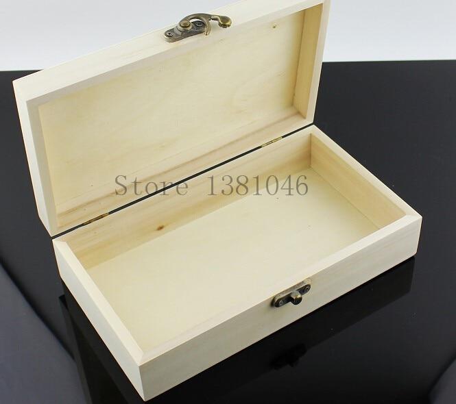 1-3 Handmade Plain Wooden Pencil Box Case Unfinished Blank Wood Storage Boxes Decoupage 21 x 13 x 4cm цвет верблюжьей шерсти 26cm x 18cm x 4cm