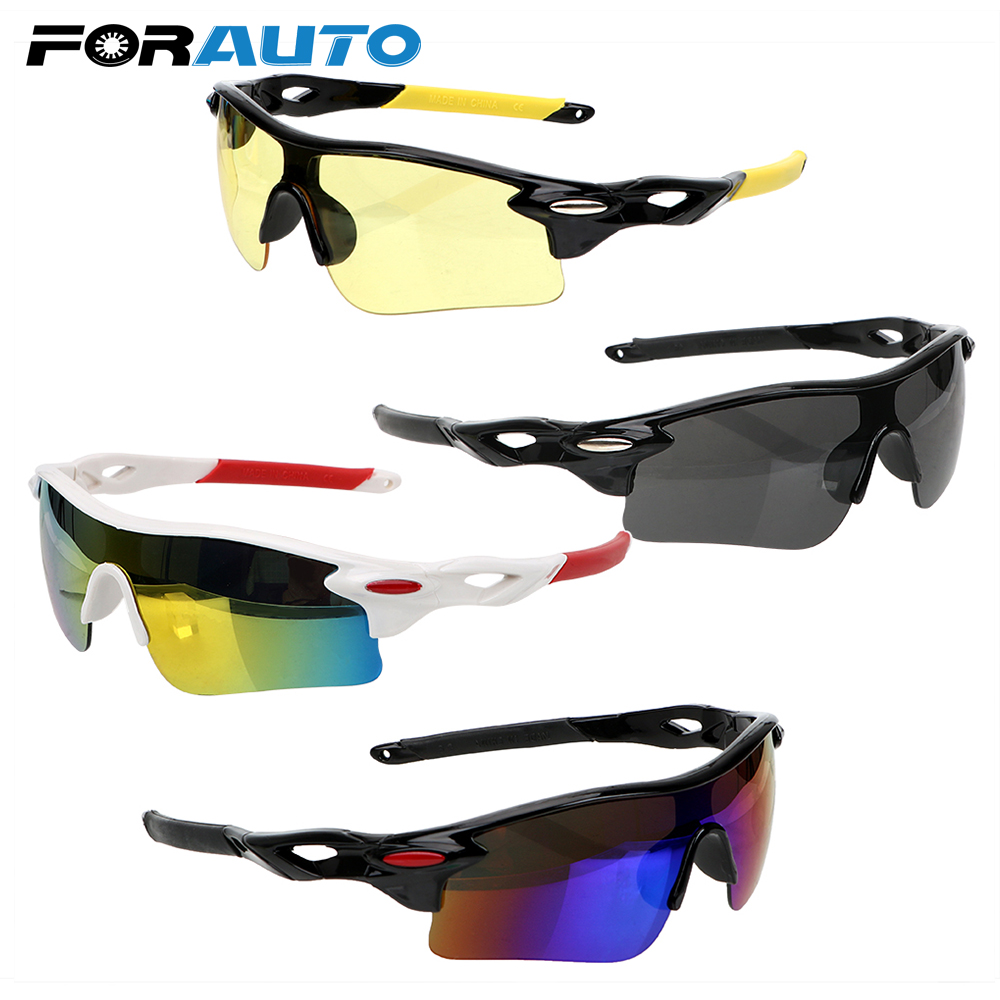 FORAUTO UV Protection Motorcycle Sunglasses Night Vision Drivers Goggles Explosion-proof Car Night-Vision Glasses Anti-glare