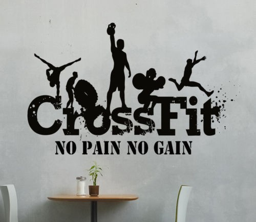 Gym CrossFit Sport Vinyl Removable Decals Wall Sticker Home Decor Wallpaper Mural Art