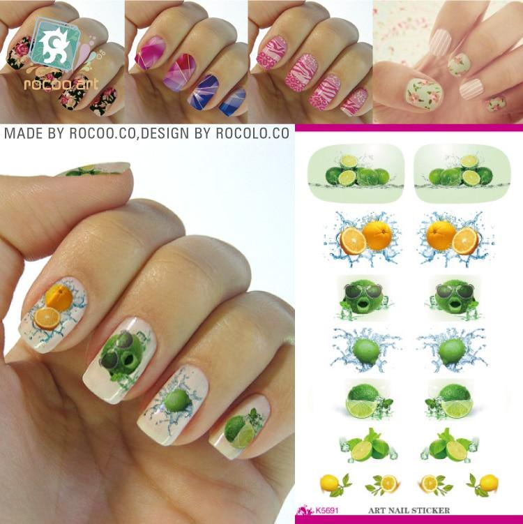 K5691/9 Different Fruit Nail Designs Styles Banana Water Nail Art ...