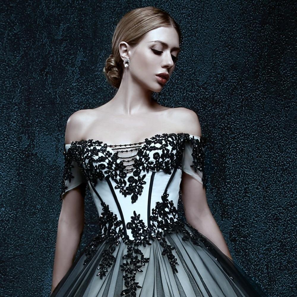 Schwarz Und Weiß Vintage Tulle Gothic Brautkleider Weg Von der ...