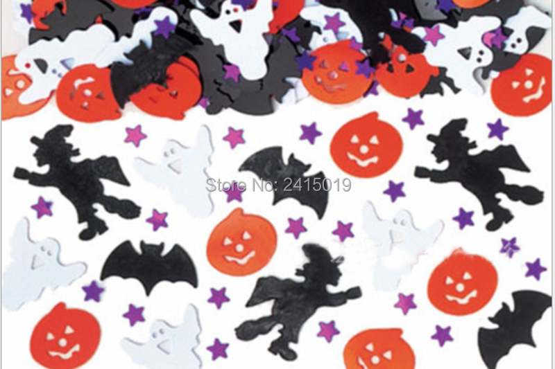 Free ship <font><b>30</b></font> gram Halloween table <font><b>confettis</b></font> take sparkling table scatters Halloween party decoration decor spider crossbone image