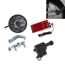 Economic 6V 3W Bike Dynamo Light Classic Bicycle Generator HeadLight Rears Set