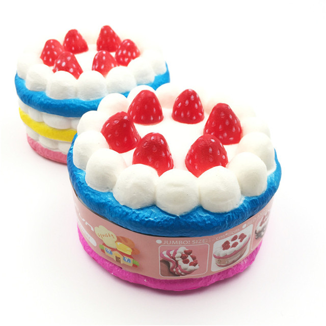 Kawaii Squishy Slow Rising Scented Jumbo Strawberry Cake Birthday