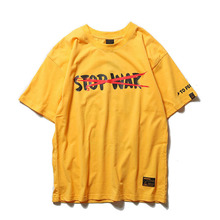 Aolamegs T Shirt Men NO WAR Printed Men's Tee Shirts Short Sleeve O-neck T Shirt Loose Cotton High Street Tees Streetwear 2018