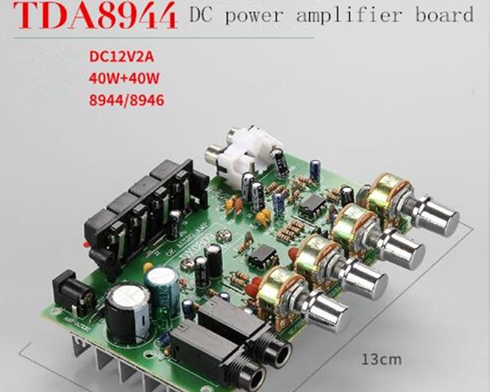 TDA8944 2.0-канальный 12 в стерео двухканальный автомобильный DIY Плата усилителя