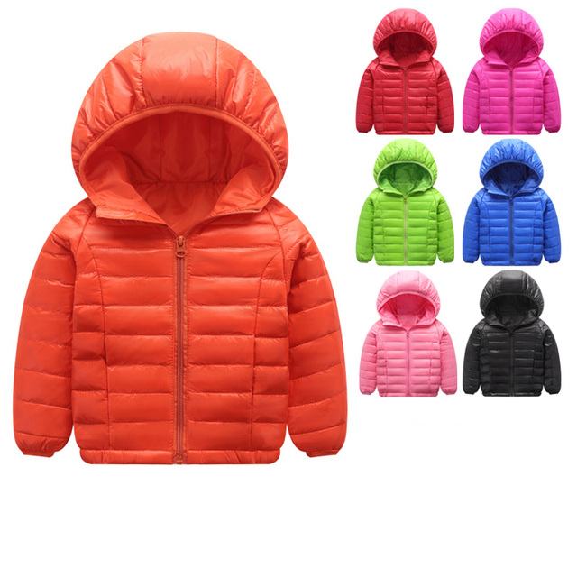 Light children's winter jackets Kids Duck Down Coat Baby jacket for girls parka Outerwear Hoodies Boy Coat 1-11 years