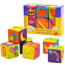 Детский мобильный Волшебный куб, детская игрушка, плюшевый блочный клатч, погремушки для раннего новорожденного, развивающие игрушки для детей 0 12 месяцев