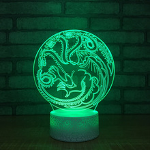 Animals Colorful 3d Lights New Strange Stereo Vision Led Lights Creative Home Night Light Usb Led Kids Lamp