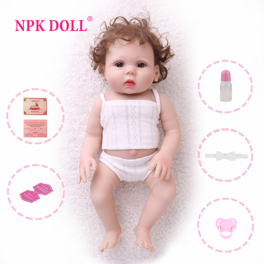 NPK DOLL Reborn Baby 18 inch Full Vinyl Lifelike toys for children Fake Infant Educational Bath