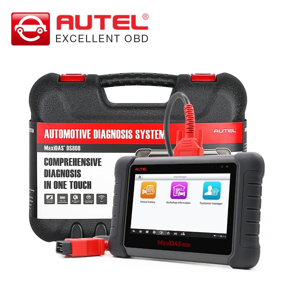 Цена за Новый Оригинальный MaxiDAS DS808 онлайн обновление автомобильный диагностический-инструмент DS 808 сканера обновление версии от Autel DS708