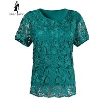Lace female summer big yards short sleeve t shirt style fashion plus fertilizer tops elastic cotton t shirt female