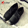 Z. Suo men's shoes,Spring/Autumn Lace-Up Cow Suede shoes man Lace-Up low help casual shoes Genuine Leather Oxfords shoes