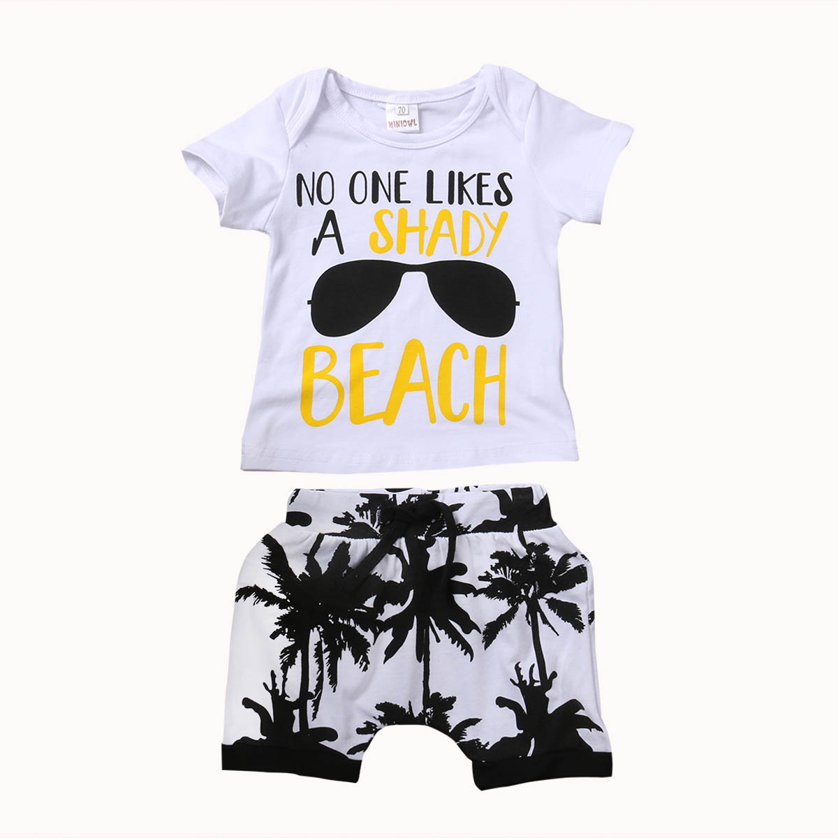 2 Pieces Toddler Newborn Infant Baby Kids Boy Outfit T-shirt Tops+Pants Shorts Cotton Clothes Set 0-3T infant baby boy girl 2pcs clothes set kids short sleeve you serious clark letters romper tops car print pants 2pcs outfit set