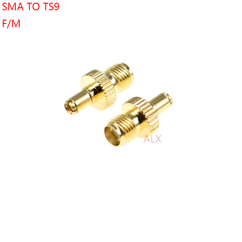 1 pces sma fêmea para ts9 macho adaptador sma jack para ts9 plug converter/rf conector adaptador de cabo antena sma para ts9