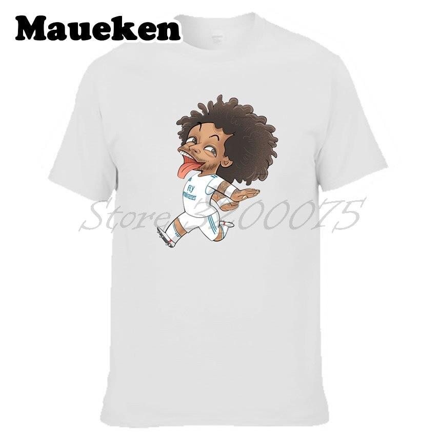 05aefb10eeb Men Marcelo Vieira da Silva Junior 12 real clown captain T-shirt Clothes T  Shirt Men s madrid o-neck tee W18042702