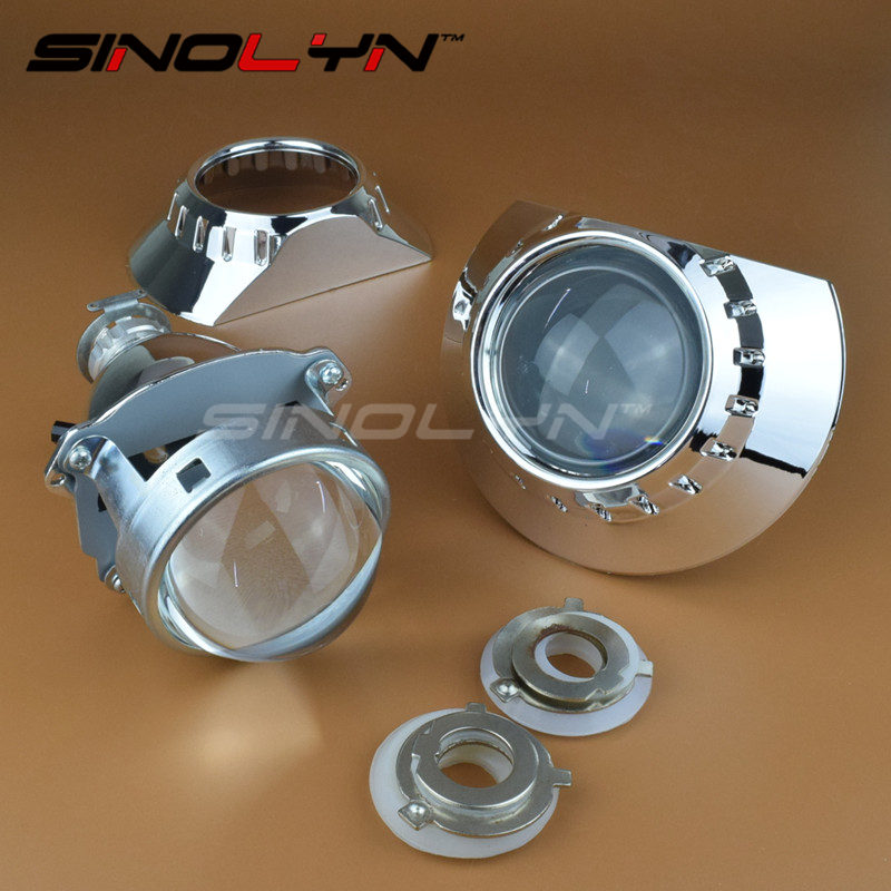 Full Metal 3.0 inches H1 HID Bixenon Lens Projector Headlight Headlamp Retrofit For ZKW E46 Auto Headlight Retrofitting LHD/RHD