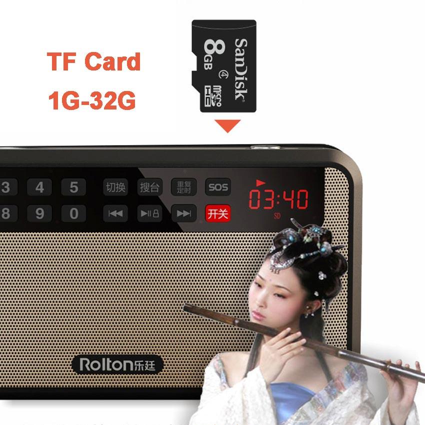 RoltonT60 MP3 Stereo Oyunçu Mini Portativ Səs Dinamiklər FM Radio - Portativ audio və video - Fotoqrafiya 2