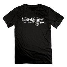 100 Cotton Short Sleeve O Neck Tops Tee Men s Avenged Sevenfold For REVER Cotton Short