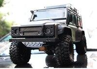 aluminum front custom grille bumper Winch pedestal guard board for rc car 1/10 Traxxas TRX4 Land Rover Defender